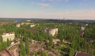 Očima E15: dronem v městě duchů. Prolétněte se nad Pripjatí a Černobylem