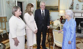 Královna Alžběta přijala Zemana. Tématem rozhovoru byl i brexit