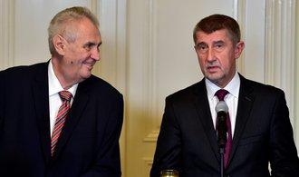 Zeman již brzy jmenuje Babiše premiérem. Vláda přitom stále nemůže počítat s důvěrou sněmovny