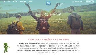 Další online banka je na světě, pozdravte Hello bank!