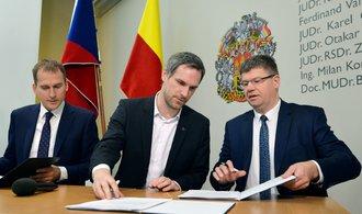 Piráti, Praha sobě a Spojené síly podepsali koaliční smlouvu