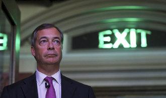 Průzkum: Volby do Evropského parlamentu by v Británii vyhrála Faragova Strana pro brexit