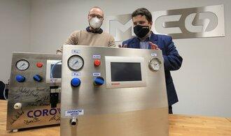 Ventilátory CoroVent získaly americkou certifikaci. Umožní jejich nasazení v případě urgence