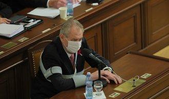 Snižme zdanění mezd, ale jen dočasně, apeloval Zeman. Návrh státního rozpočtu podpořil