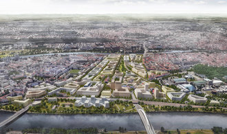 Nižší budovy a větší respekt k památkám: Tak vypadá finální studie na přeměnu brownfieldu v Bubnech