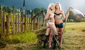 Rakouské a německé farmářky pro charitu: Nahé propagují život na venkově