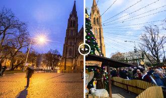PŘED A PO. Vánoce v metropoli 2019 vs. 2020 aneb covidové změny