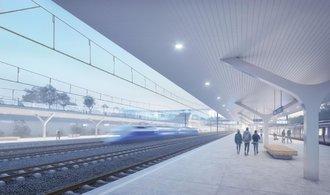 Terminál vysokorychlostní železnice Praha-východ dostal budoucí podobu