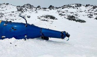 Vrtulník s Kellnerem narazil do úbočí, k překonání hřebene scházelo pár metrů