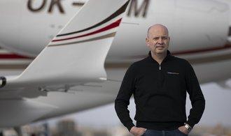 Los vuelos en jet privado están aumentando rápidamente por cientos de miles, dice el jefe de Time Air, Martin Pražský.