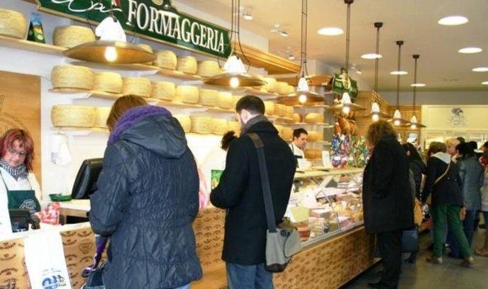 Tradiční italské sýrařství otevřelo prodejnu na Václavském náměstí