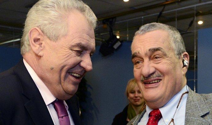 Negativní kampaň nechystáme, slíbili Zeman i Schwarzenberg