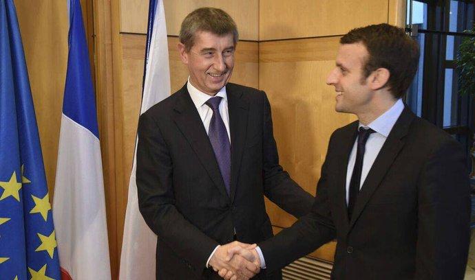 Babiš se sešel s Macronem, hovořili o budoucnosti Evropské unie