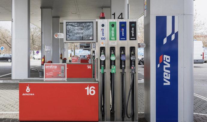 Průměrná cena pohonných hmot klesla v týdnu o 11 haléřů