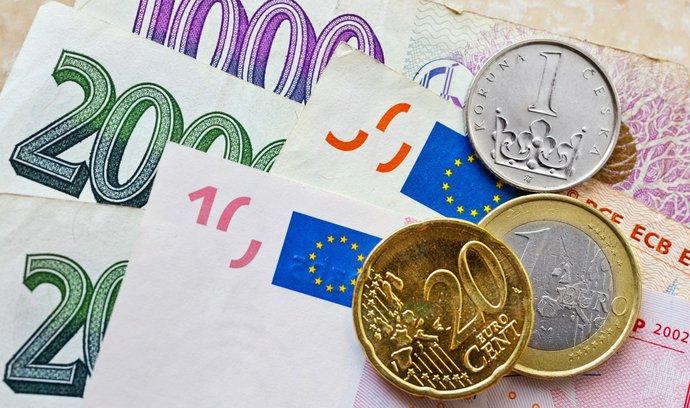 Koruna poskočila vůči euru i dolaru na nejsilnější úroveň za poslední léta