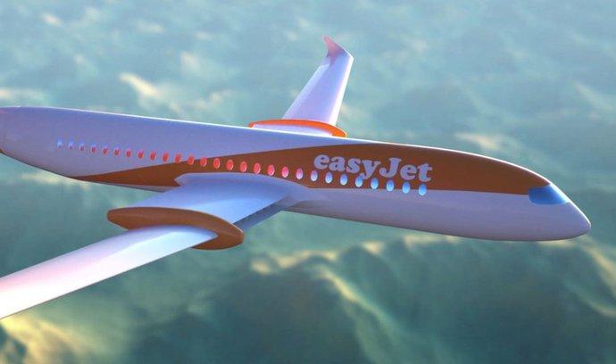EasyJet chce do deseti let létat elektrickými letouny. Mají být tišší a levnější