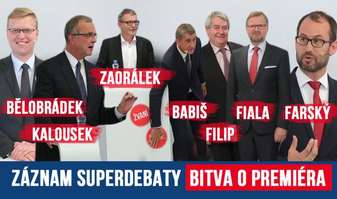 Volby 2017: Podívejte se, co zaznělo v superdebatě lídrů politických stran
