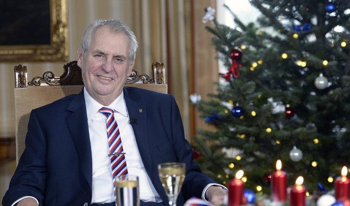 Konečně rostou mzdy, pochvaloval si Zeman ve vánočním projevu
