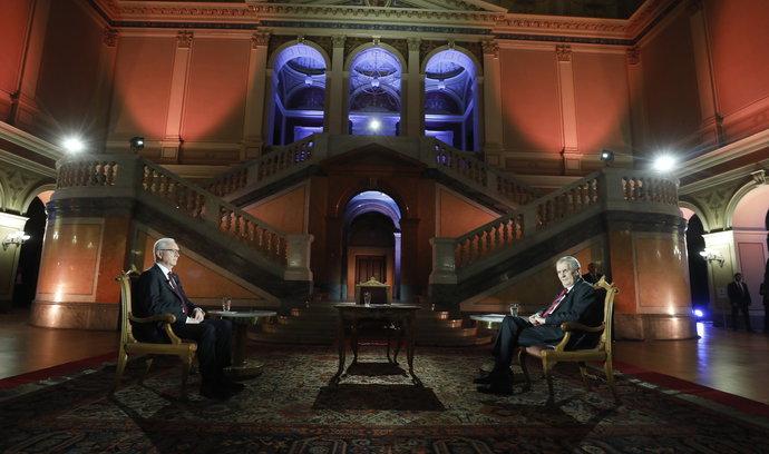 Prezidentská debata: Babiš nepodváděl, řekl Zeman o Čapím hnízdě