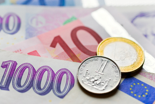 Euro bude podle prognózy ČNB do konce roku za 24,60 koruny