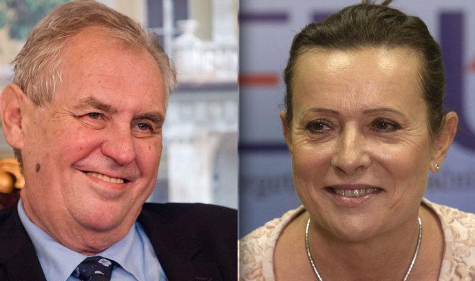 Zeman chce udělit vyznamenání Vitáskové, oceňuje její boj proti solárním baronům