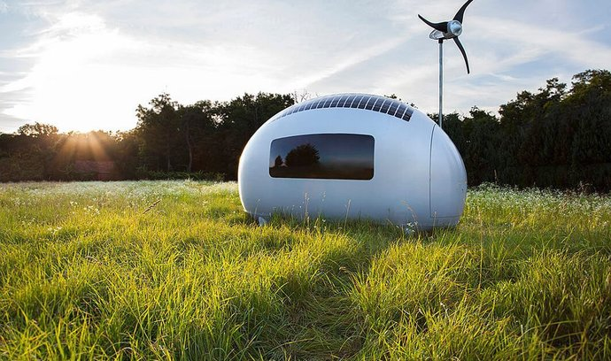 Ecocapsule: Mobilní domek pro všechny, kteří touží žít na neobvyklých místech