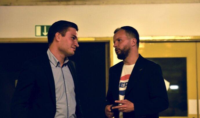 Marketingový expert ANO Marek Prchal (vpravo) je rovněž ve štábu strany