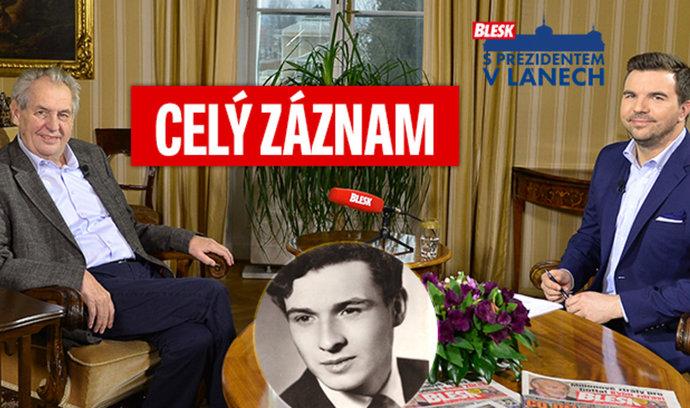 Miloš Zeman v rozhovoru pro Blesk: Blbci u Palacha, vyhazov za šikanu a odhalený důchod