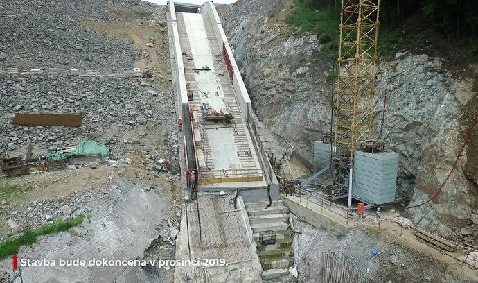 Dron E15: prohlédněte si unikátní přestavbu vodního díla Boskovice