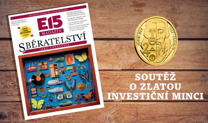 Vyhrajte svou zlatou investiční minci s novým magazínem E15