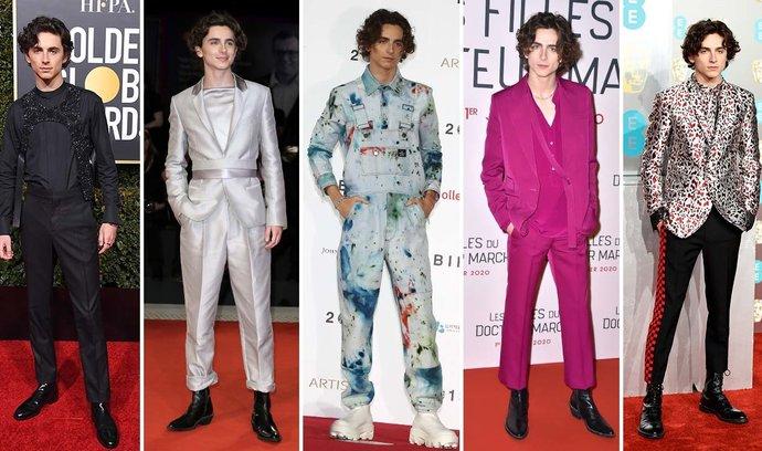 Jak nosit zábavnější obleky (jako Timothée Chalamet)