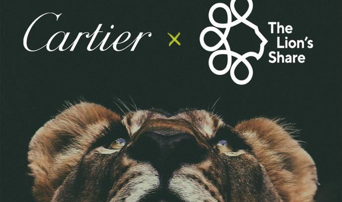 Klenotnická značka Cartier se připojuje k organizaci The Lion's Share Fund