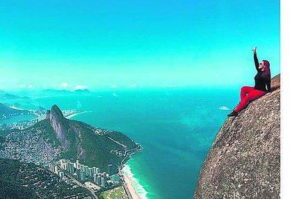 Turistka na hoře v Brazílii: Kvůli téhle fotce dráždila zubatou!