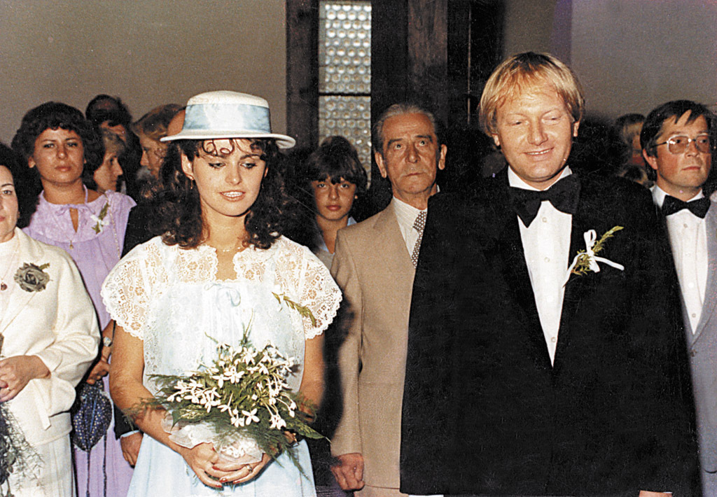Svatební den Luďka Soboty s ženou Adrianou.