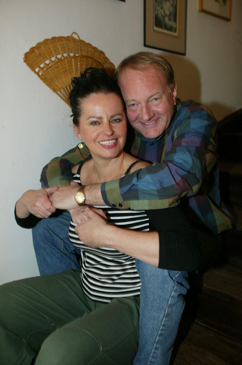 Luděk Sobota se svou manželkou Adrianou