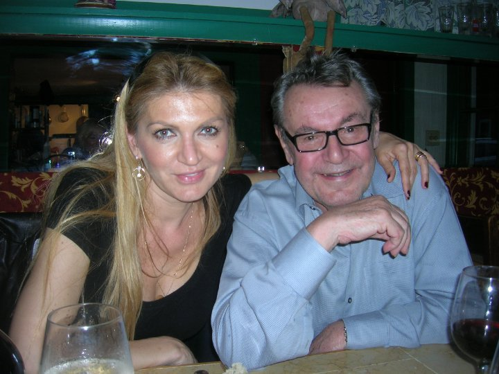 Miloš Forman s manželkou Martinou.