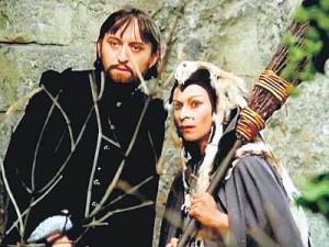 Andresíková jako čarodějnice v Arabele, na snímku s Jiřím Lábusem