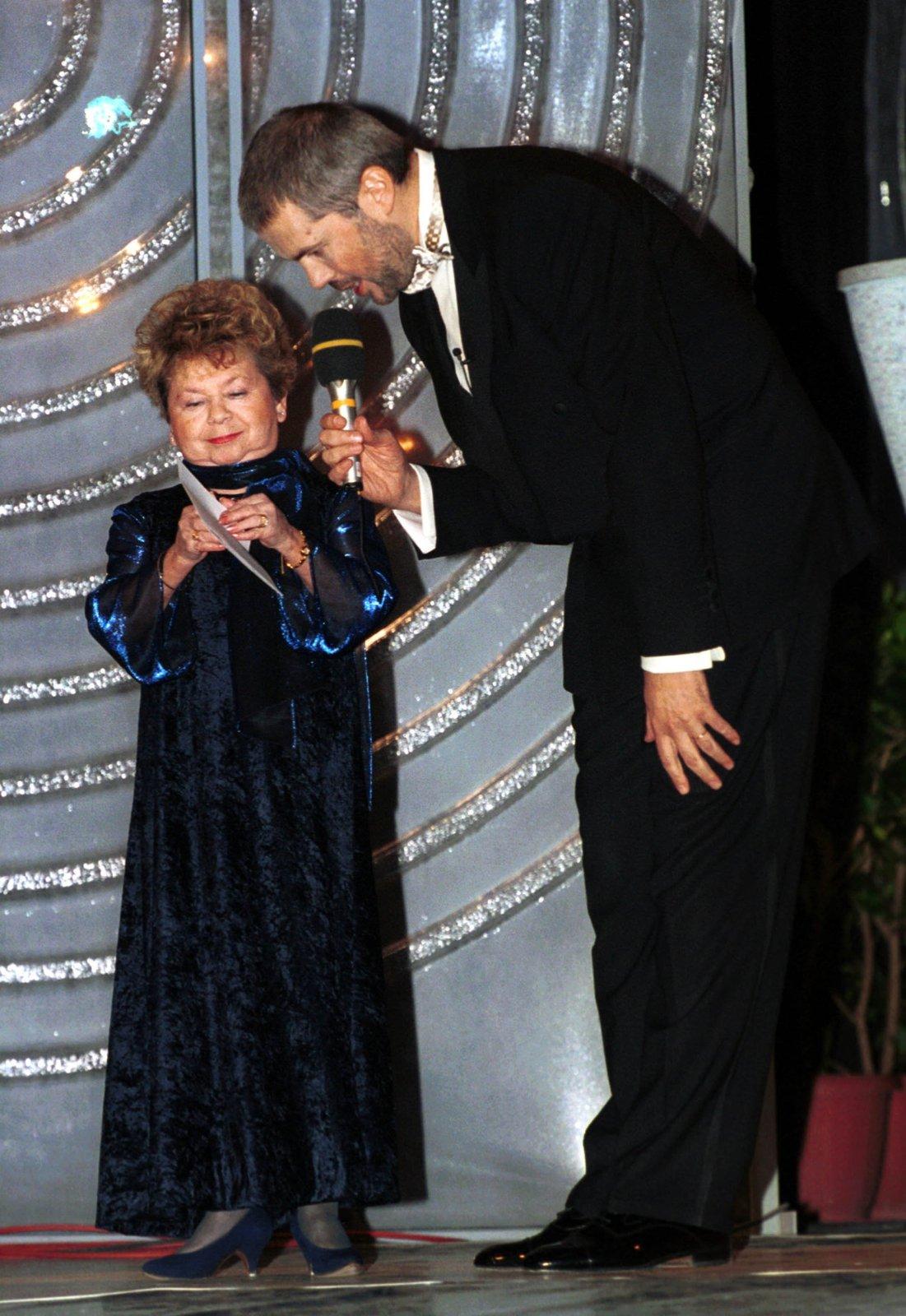 Aťka Janoušková s Markem Ebenem na cenách TýTý v roce 2001.