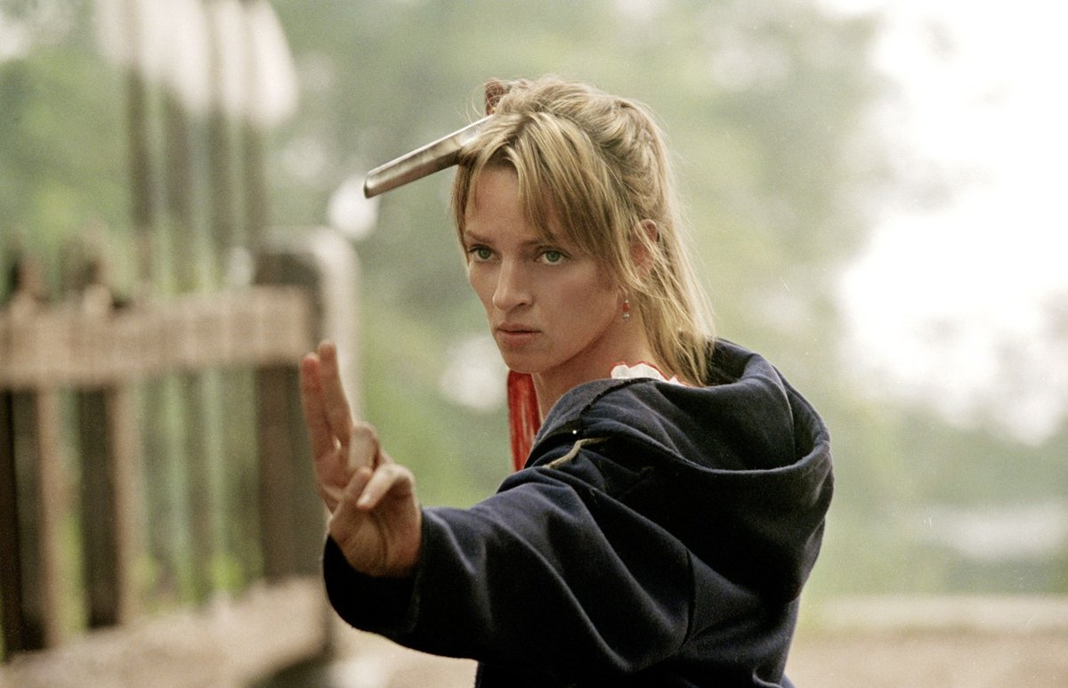 Herečka Uma Thurman v Kill Bill