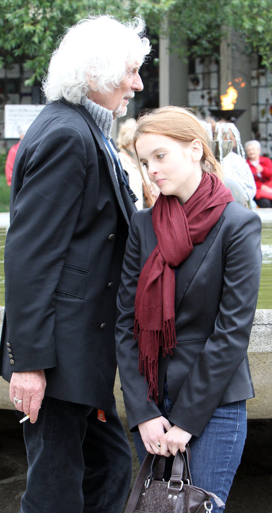 Petr Hapka s partnerkou.