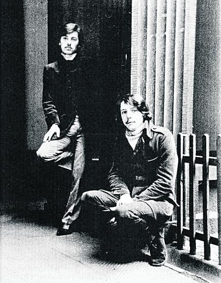 vo Plicka (vlevo) a  Petr Novák vdobách své největší slávy, Praha 1969