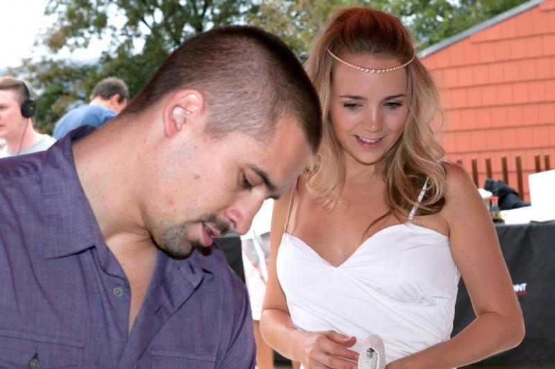 Na křest knihy dorazila Vondráčková i se svým manželem Tomášem Plekancem