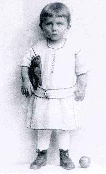 Felix Holzman ještě jako tříletý chlapeček.