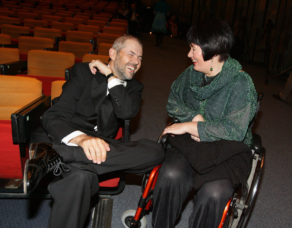 Eben se svojí manželkou Markétou Fišerovou.