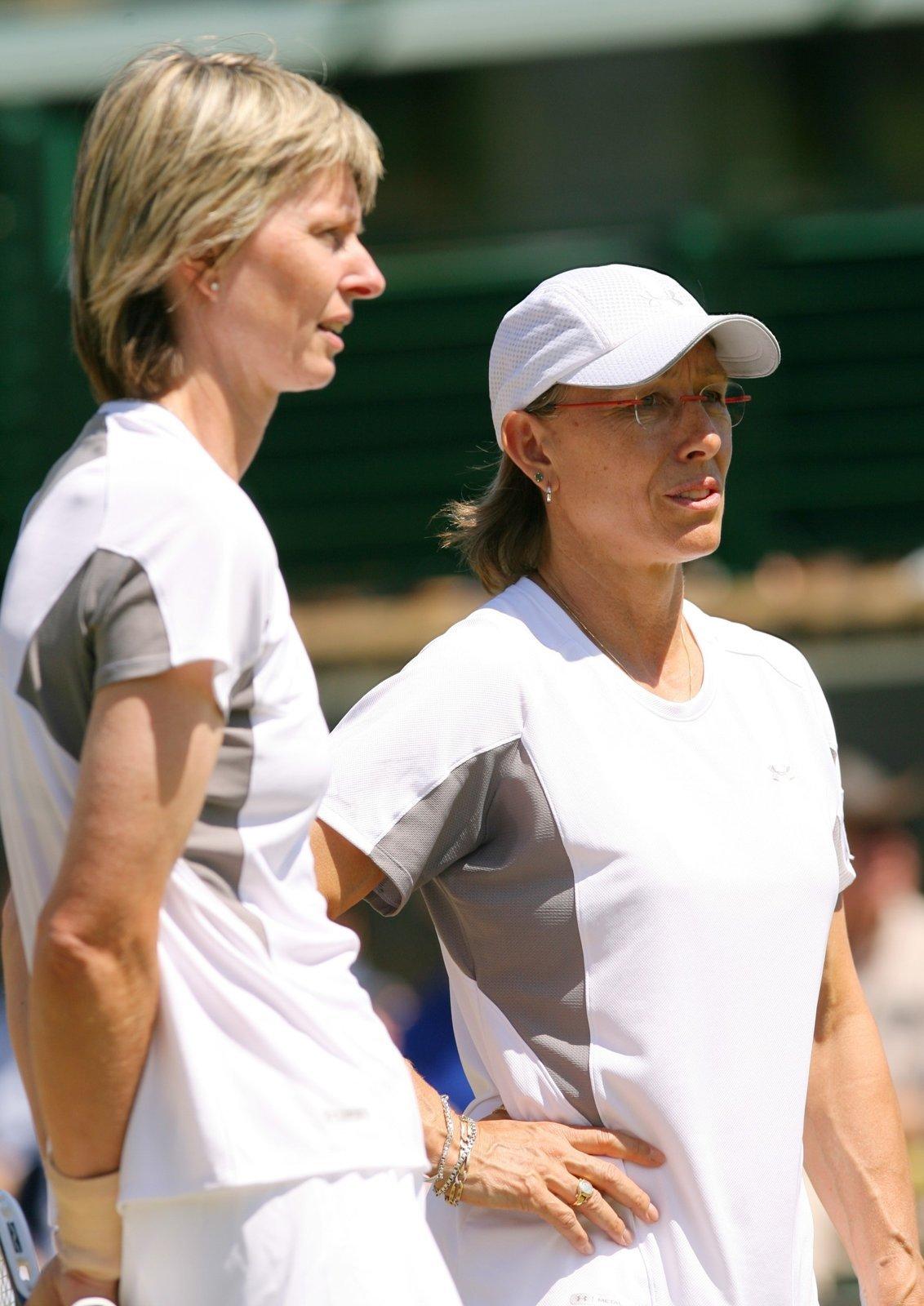 Helena Suková si Martinou Navrátilovou zahrála čtyřhru legend ve Wimbledonu