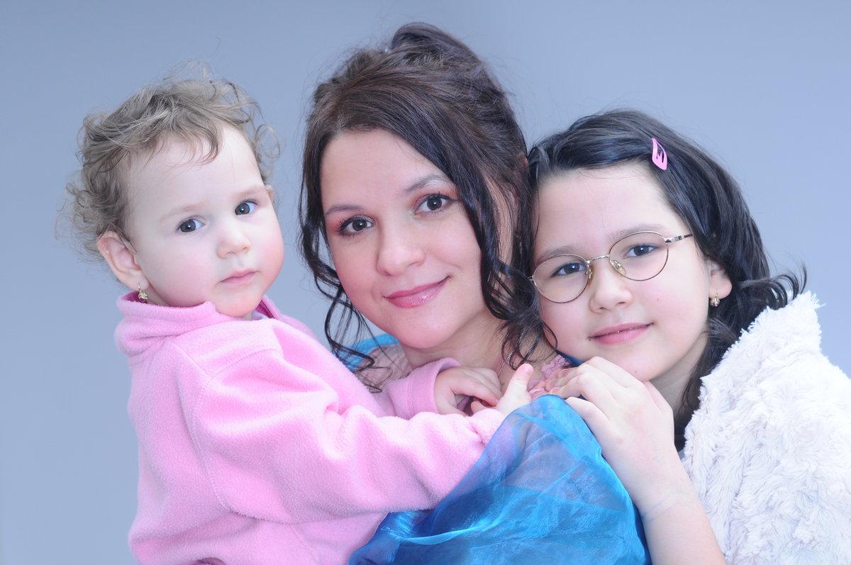 Magda Malá s rodinou