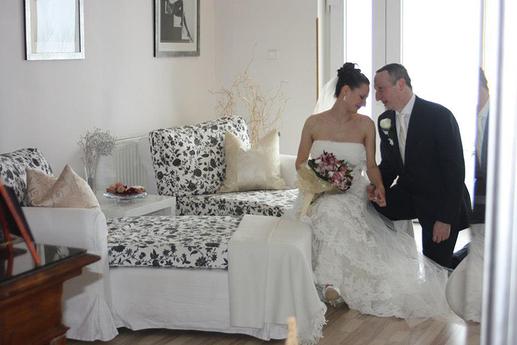 Jedna ze svatebních fotografií zamilovaného párečku