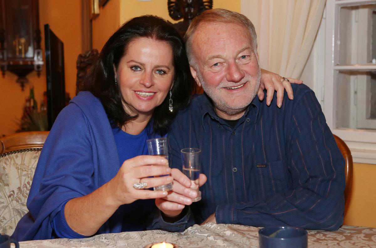 S manželkou Adrienou.