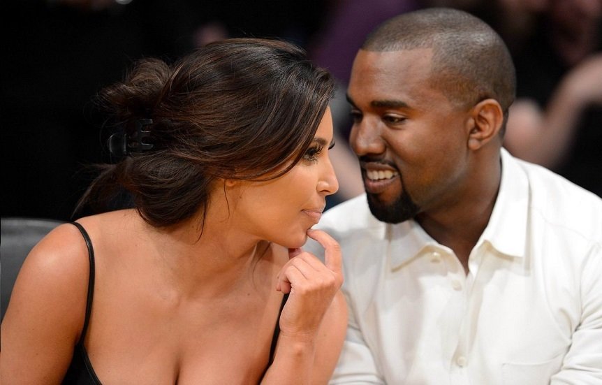 Kanye West a Kim Kardashian.