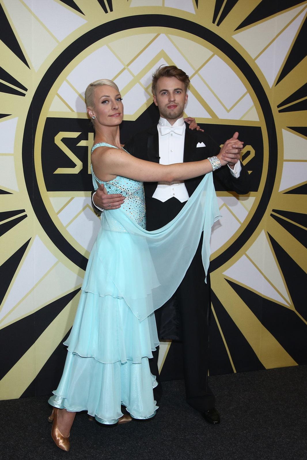 Anička Polívková se svým partnerem Michalem Kurtišem